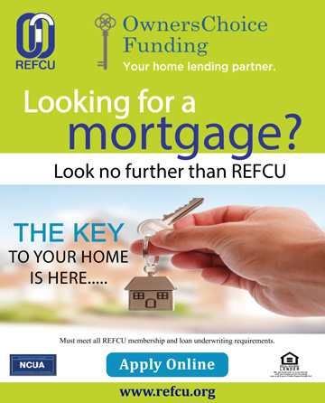 Looking for a mortgage? Look no further than REFCU. Apply online