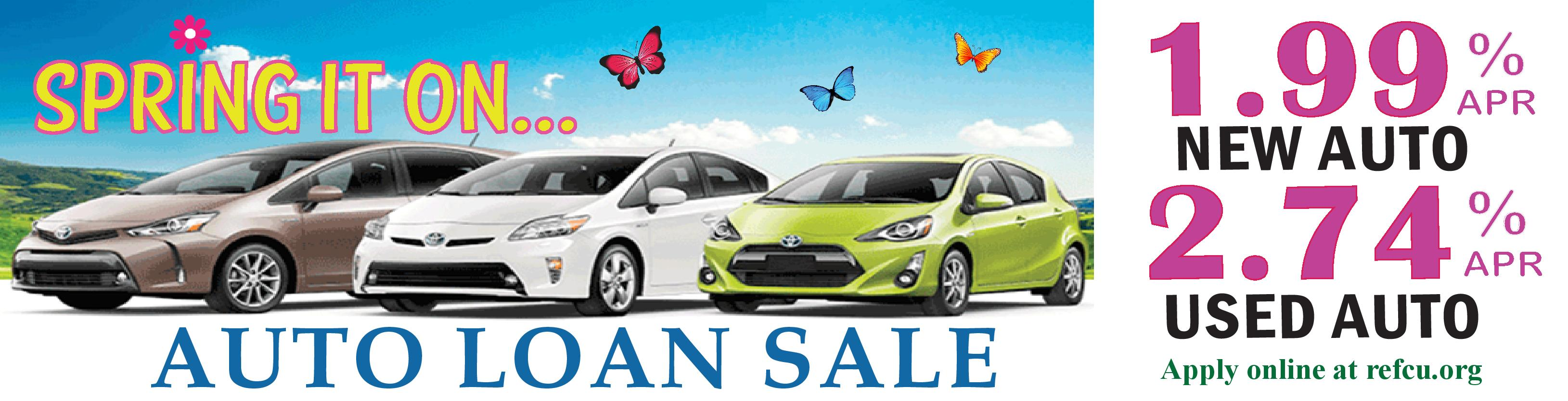 Spring it on loan sale. Rates as low as 2.24%